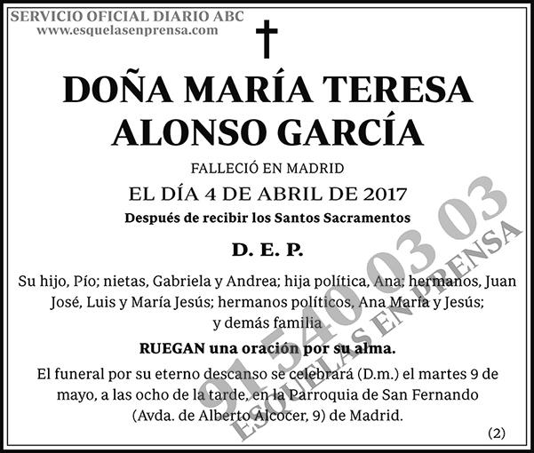 María Teresa Alonso García